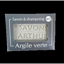 SAVON SOLIDE BIO À L'ARGILE VERTE