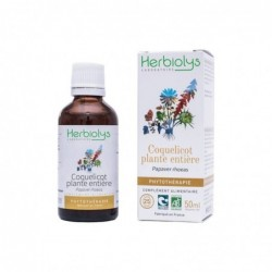 Herbiolys PHYTO Coquelicot plante entière 50mL BIO - Papaver rhoeas