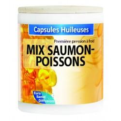 GÉLULES HUILE MIX SAUMON POISSONS 500MG + VIT.E - Phytofrance - 100 gélules