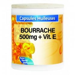 GÉLULES HUILE BOURRACHE 500MG + VIT. E - Phytofrance - 100 gélules
