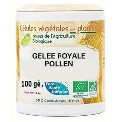 Gélules végétales gelée royale - pollen