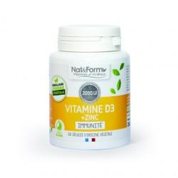VITAMINE D3 + ZINC - 60 GÉLULES - NAT & FORM