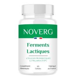 Ferments Lactiques - 60 gélules probiotiques - Noverg complément alimentaire