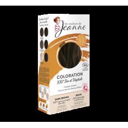 Coloration 100% végétale brun