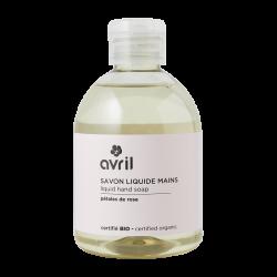 Savon liquide mains Pétales de Rose (sans pompe) 300 ml - Certifié bio