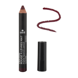 Crayon rouge à lèvres mat Bordeaux Certifié bio