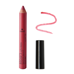 Crayon rouge à lèvres Camélia rose Certifié bio