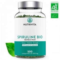 Spiruline Bio - Nutrivita - 500 comprimés - 500mg