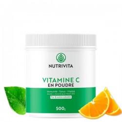 Vitamine C en poudre - 500g - Nutrivita
