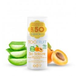 Lait solaire SRF50 bio - Abricot Aloe vera - 30ml